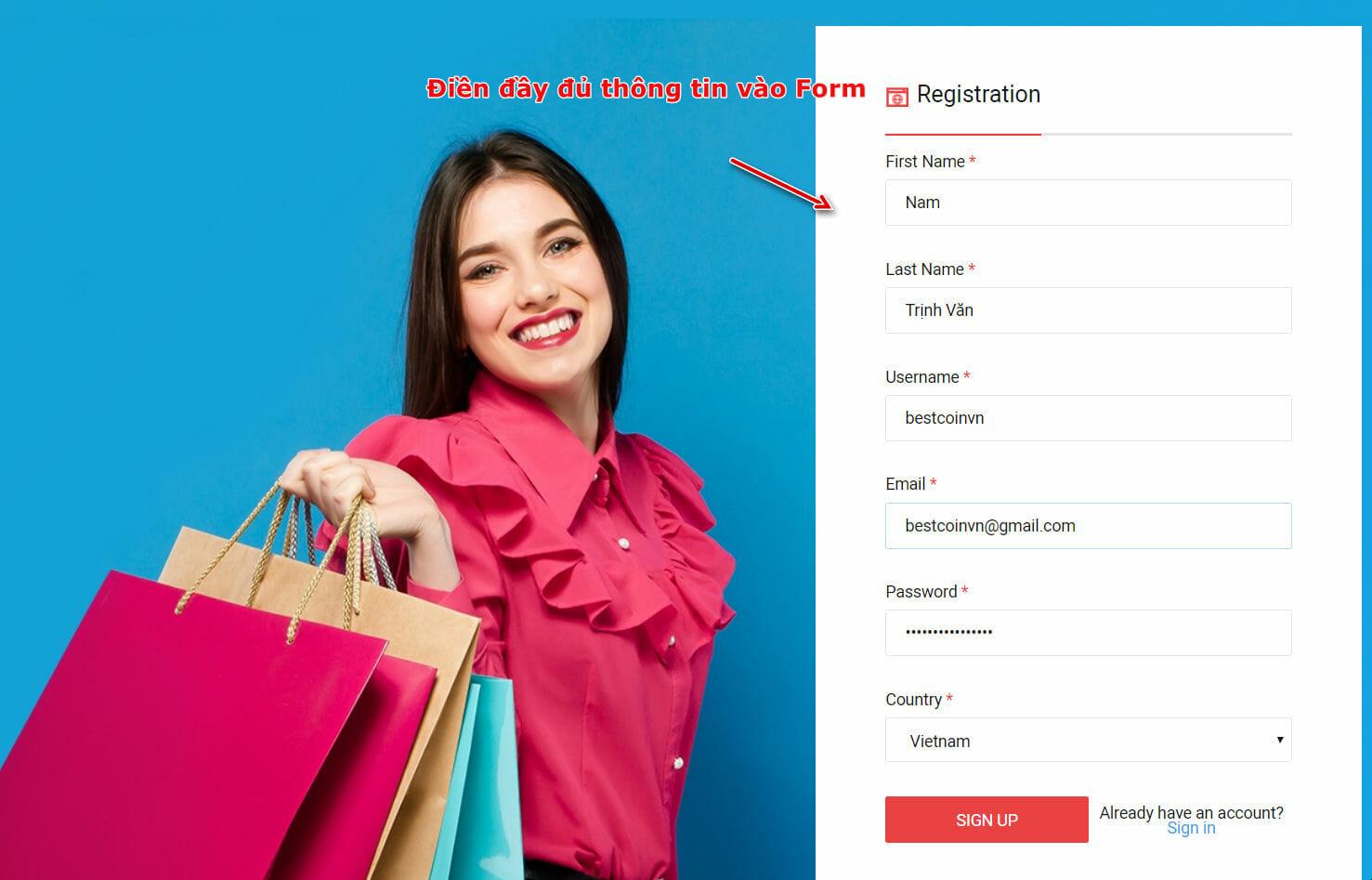 Đăng ký tài khoản trên 24bas.com
