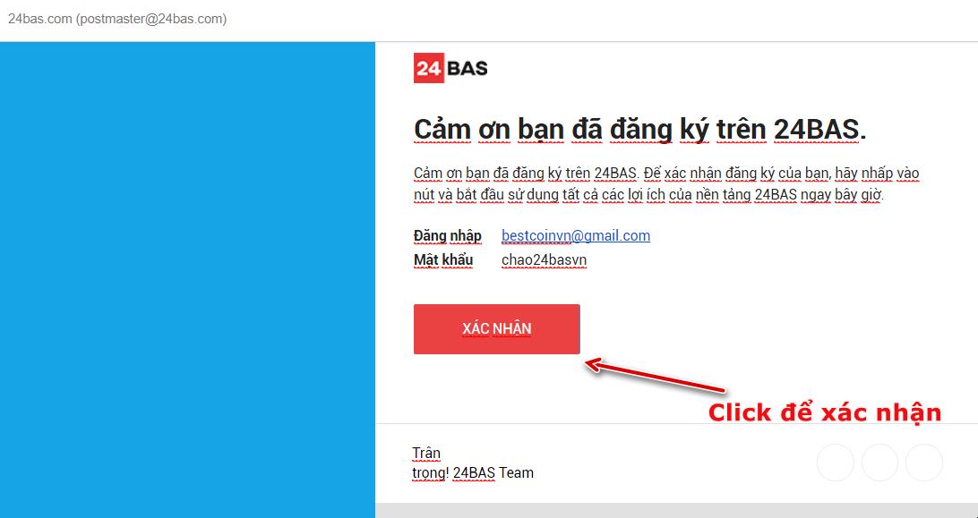 Kiểm tra Mail để xác nhận đăng ký tài khoản